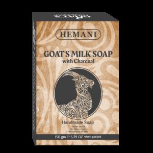 Savon Hemani au lait de chèvre avec du charbon de bois
